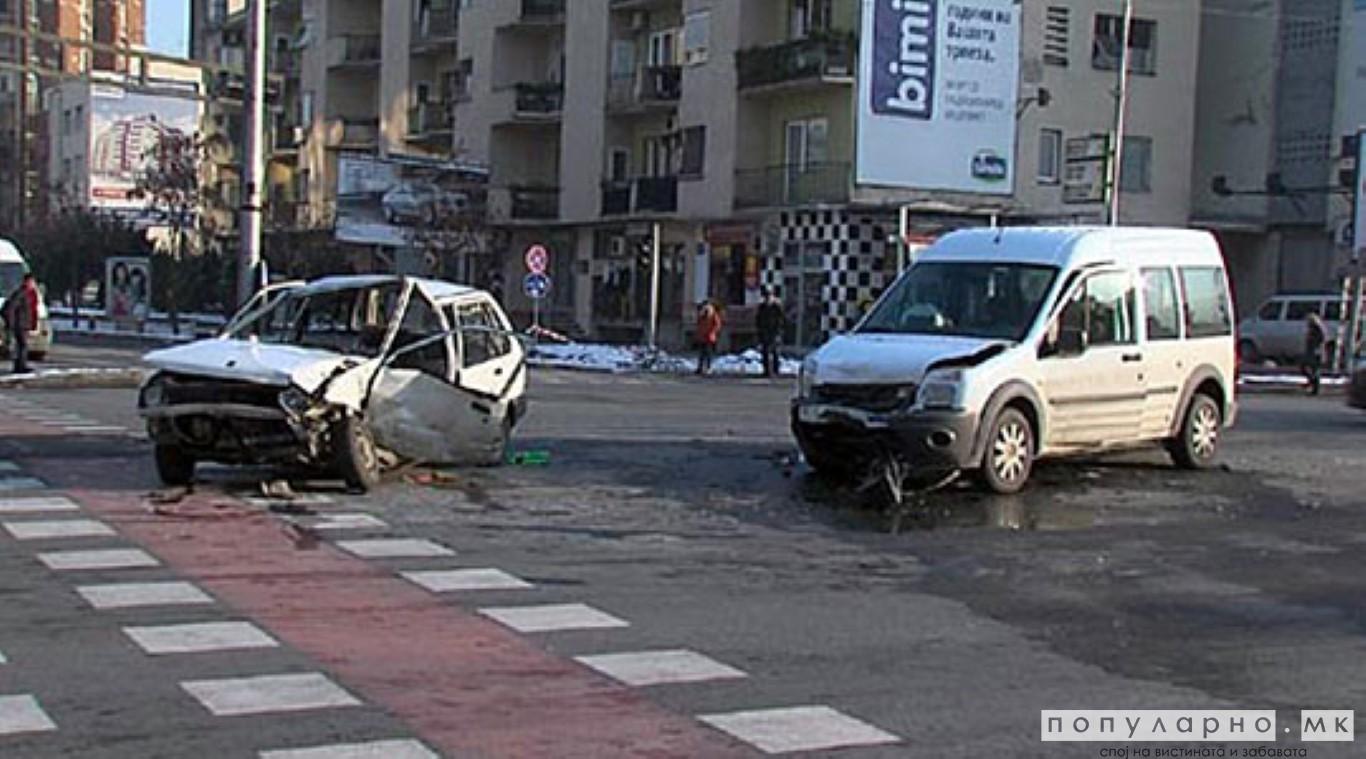 Во Скопје 11 сообраќајки, повредени девет лица