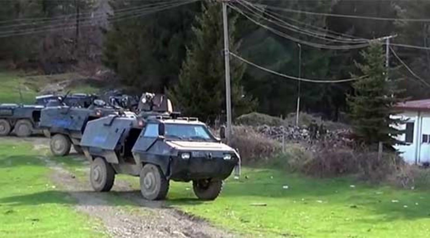 ВИДЕО: Македонската полиција во Гошинце