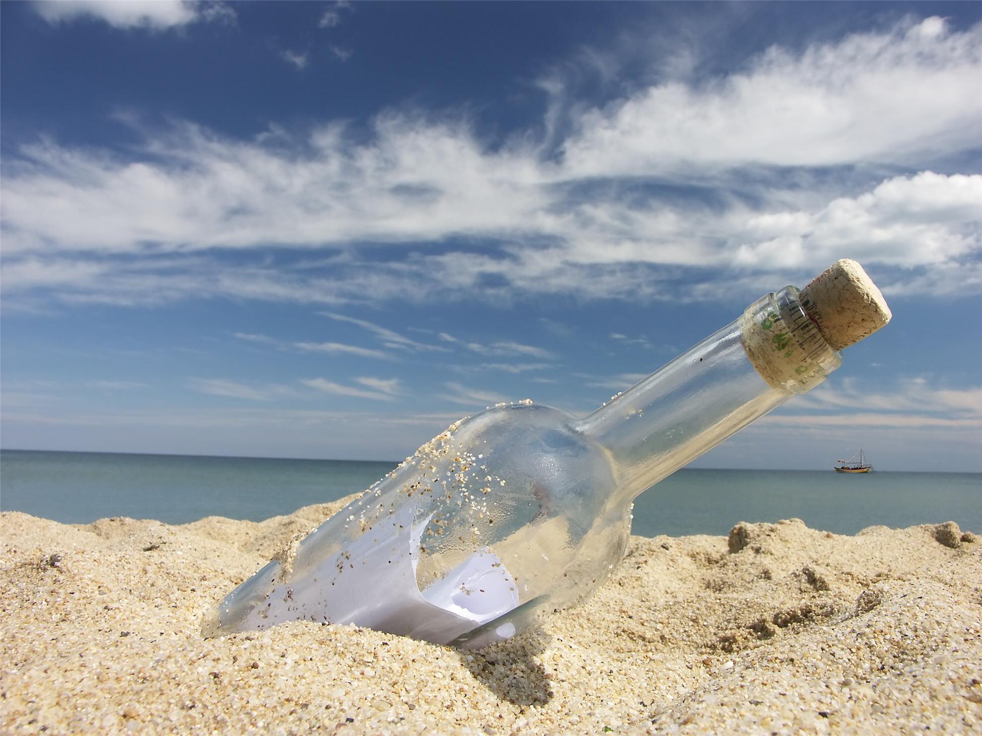 """Порака во шише најдена во Германија по 108 години """"патување"""" по море"""