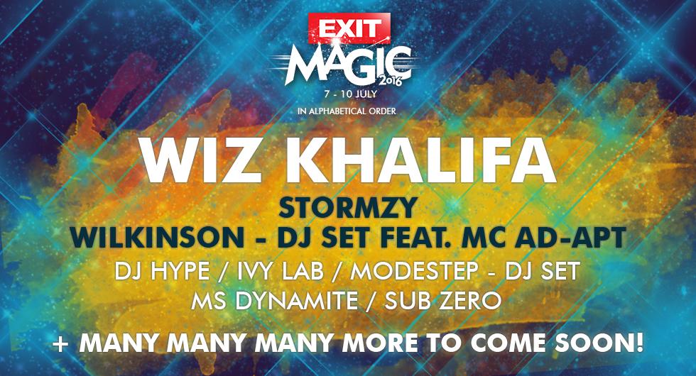 Најбараниот светски хип хоп изведувач Wiz Khalifa доаѓа на EXIT 2016!
