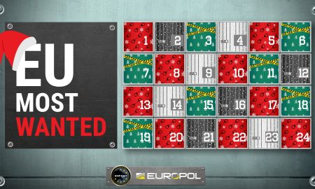 Најбараните криминалци ќе се најдат на божиќен календар на Европол