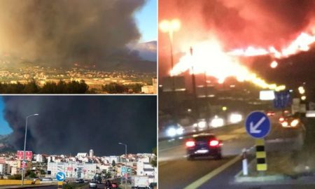 Пожарите во околината Сплит ги гаснат 384 пожарникари со 102 возила