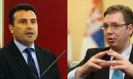 Заев и Вучиќ телефонски ќе разговараат за односите меѓу Скопје и Белград