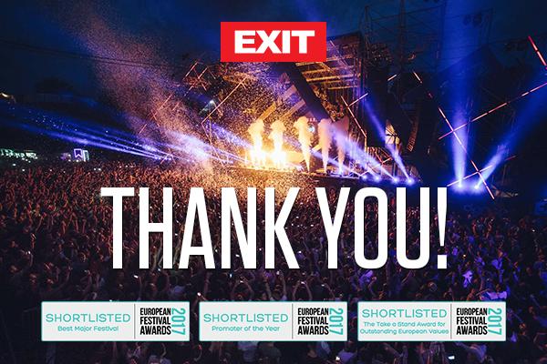 EXIT изгласан меѓу најдобрите фестивали и организатори во Европа!