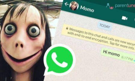 Нова опасна игра, Момо се шири на социјалните мрежи
